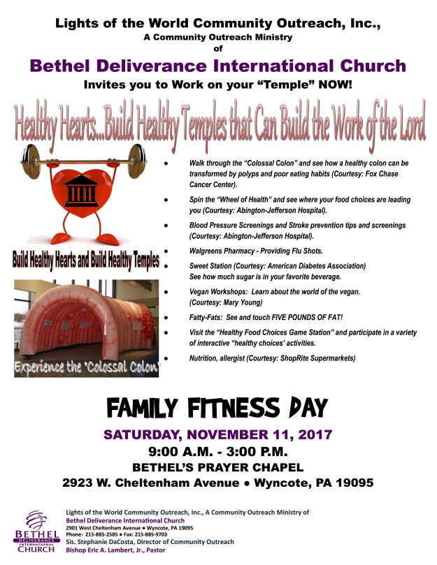 Family Fitness Day   Bethel Deliverance International Church