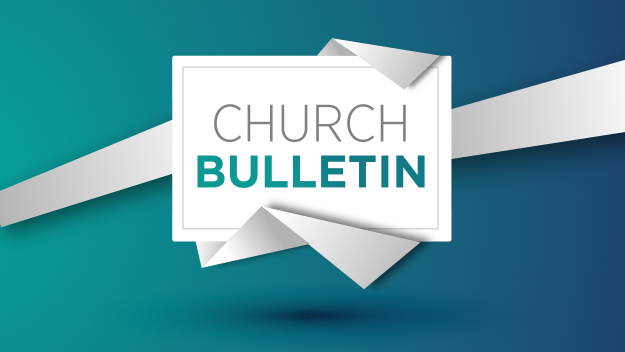 Church Bulletin 01/06/19