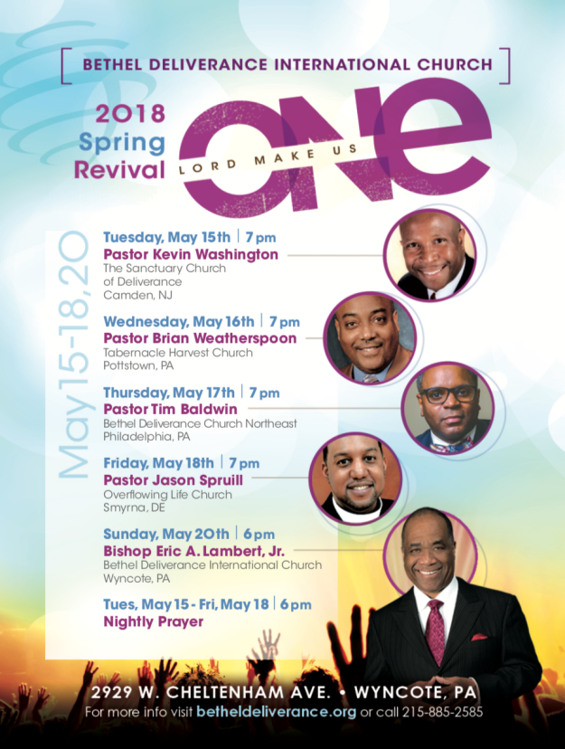 "SPRING REVIVAL ""Lord Make Us One"""