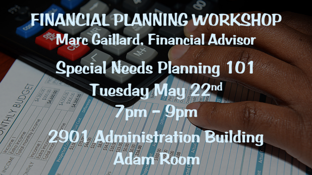 "Financial Planning ""Special Needs Planning 101"""