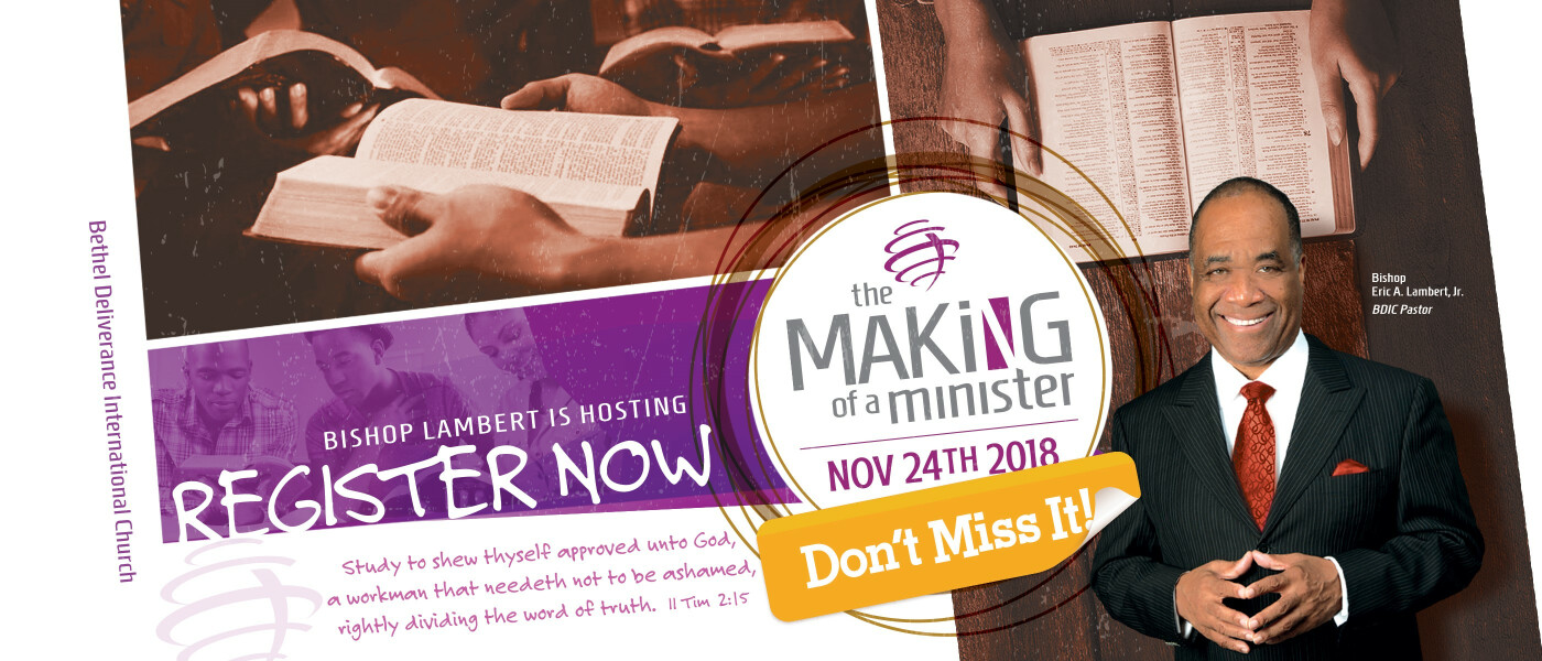 Making of a Minister Mentoring and Training - Nov 24 2018 10:00 AM