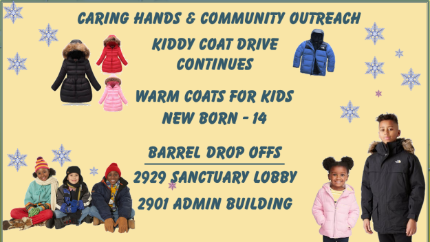 """Caring Hands - Community Outreach """"Kiddy Coat Drive"""" Continues"""