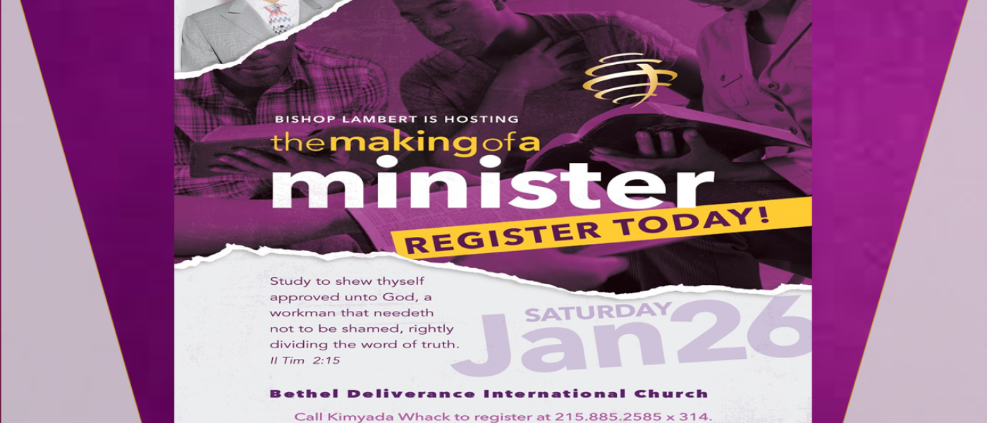 Ministers' Mentoring and Training with Bishop Eric A. Lambert, Jr. - Jan 26 2019 10:00 AM