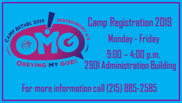 Camp Bethel Registration 2019