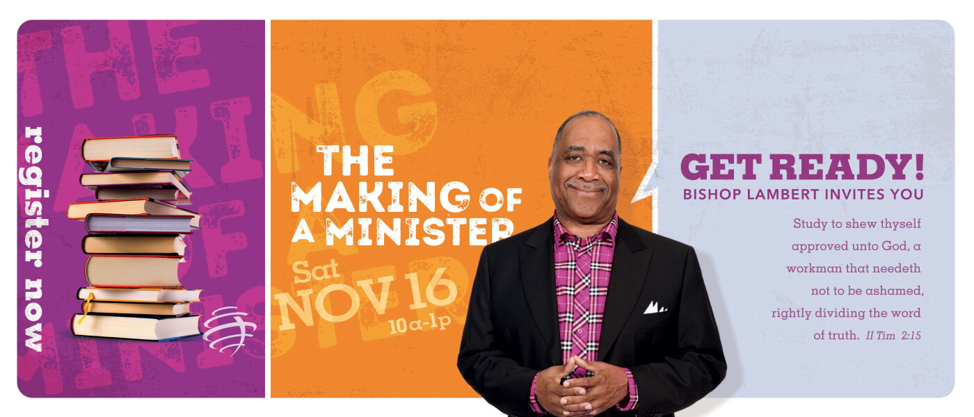 The Making of a Minister Mentoring and Training  - Nov 16 2019 10:00 AM