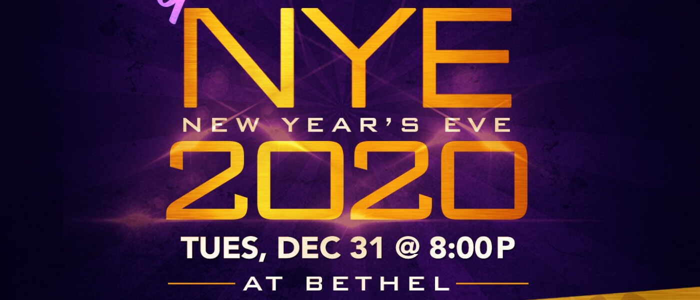 New Year's Eve Service - Dec 31 2019 8:00 PM