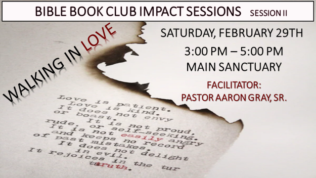 Bible Book Club Impact Sessions